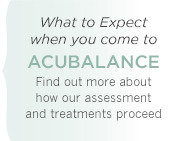 What to Expect on your visits to Acubalance