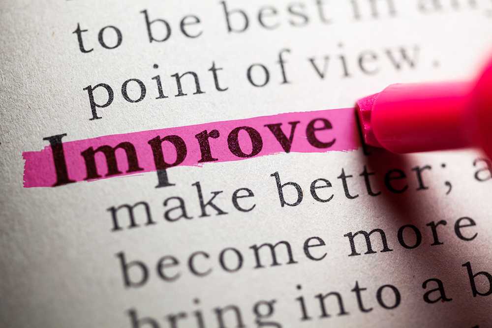 Improve make better written on paper